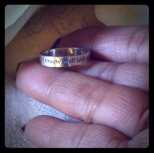 "Vintage ""Love Is"" Inscribed Verse Ring"